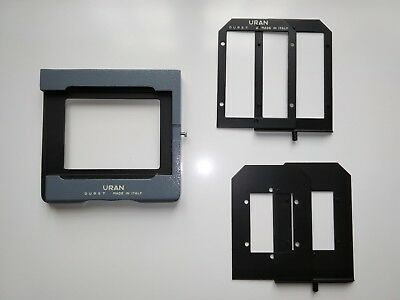 Durst Uran Film carrier for enlarger with two inserts allexcellent ( no glass )