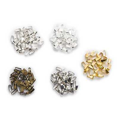 50 Piece Smooth Pinch Clip Bail Beads Findings Jewelry Making Connectors 11x4mm