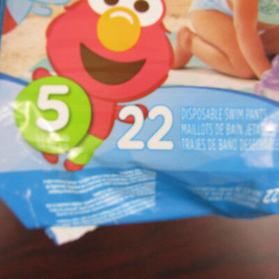 Pampers Splashers Package Size 5 Swim Diapers Elmo 22 Per Pack