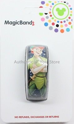 NEW Disney Parks Peter Pan 65th Magic Band Navy Blue MagicBand 2 Link It Later