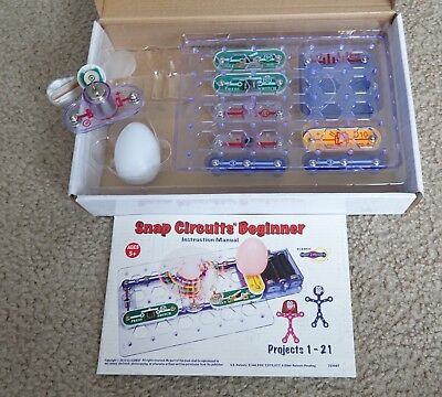 snap circuits snap circuit beginner electronic discovery kit rh picclick com Snap Circuits Projects Snap Circuits Pro