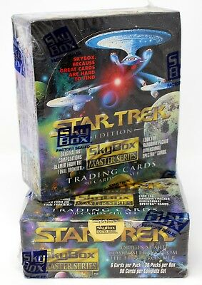 1993 Skybox Star Trek Masters Series Hobby Box Lot Factory Sealed New (2 Boxes)