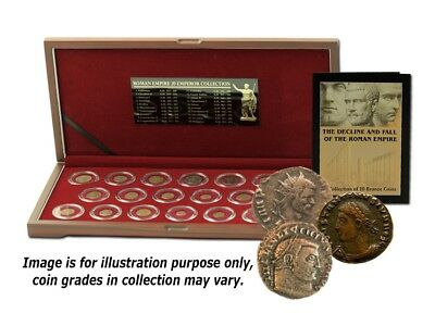 The Decline and Fall of the Roman Empire Box of 20 Bronze Coins of Ancient Rome