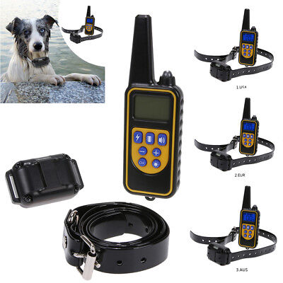 LCD Rechargeable Waterproof Anti-Bark Dog Shock Training Collar Remote Control