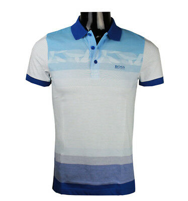 559fcc437 Hugo Boss 50383855 Men's Paule 6 Slim-Fit Patterned Polo Golf Shirt s m l  xl 2xl