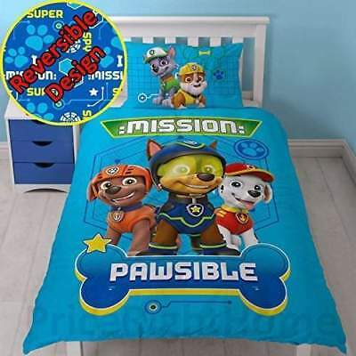 Paw Patrol Spy Single Duvet Cover and Pillowcase Set | Brand New | Free Delivery