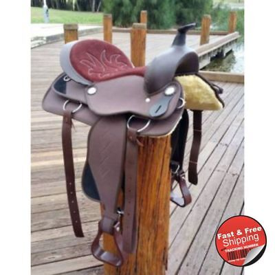 Brown- Synthetic Western Saddle