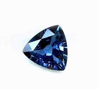 1.00 Cts Natural Mined Loose Gem Trillion Twilight Blue Sapphire  6.8x6.8 MM LxW