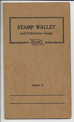 Elbe Stamp Wallet Perforation Gauge and Metric and Inch Ruler