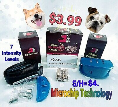 Aiblii Dogs No Bark Collar Anti Bark Collar~7 Correction Levels~Necks up to 22""