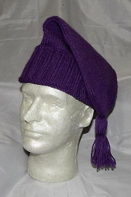 Hand Made Knitted Voyager Hat - Purple *NEW*