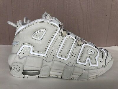 Nike Air More Uptempo GS Youth Kids Light Bone White Shoes SZ 3.5Y-6Y 415082-006