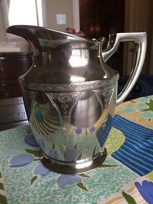 Beautiful Benedict Electroplate Nickle Silver water Pitcher #330 EPNS BMM