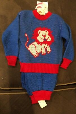 Judy Philippine Sweater Two Piece Set Lion 3T Blue And Red