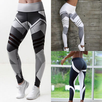 754d665189 Womens Sport Compression Fitness Leggings Running Yoga Gym Pants Workout  Wear US