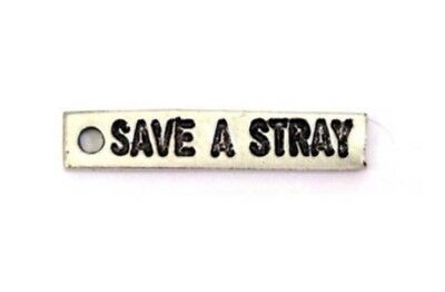 """30x8mm GOTH Chubby Chico Pewter Charm Qty 1 """"CURSED"""" Sign LEAD FREE"""