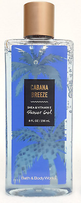 New 1 Bath & Body Works Cabana Breeze Body Wash Shower Gel 8 Fl Oz Shea Vit E