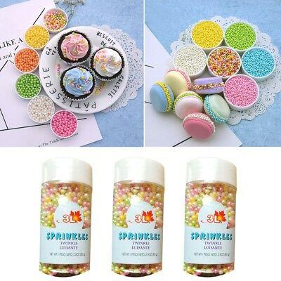 1 Canned Bright Colored Pearls Candy Beads Cake And Cupcake Edible Decorations