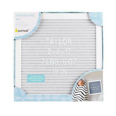 Pearhead Grey Framed DIY Felt Letter Board Message Quotes