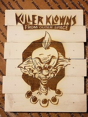 Killer klowns from outerspace custom wood sign poster
