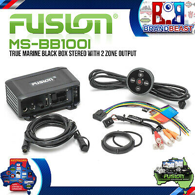 Fusion MS-BB100i True Marine Black Box Bluetooth Iphone Android Dual Zone Usb