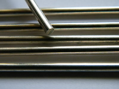 Sterling Silver Rod Solid 8.0mm x 50.0mm Straight Length  Fully Hard .925