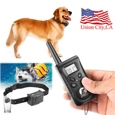 300M Dog Training Collar Electric Shock Collar with LCD Remote Control For Dogs