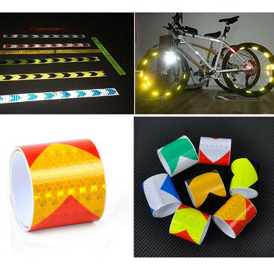 Colorful Night Reflective Safety Warning Conspicuity Tape Strip Arrow Sticker X1