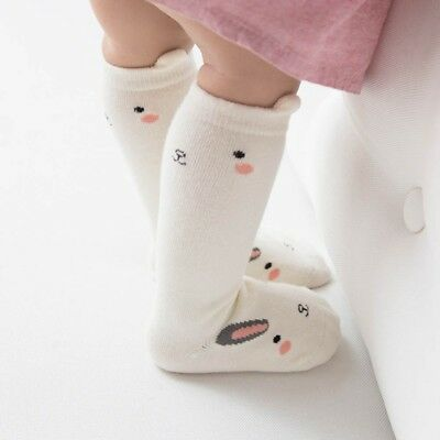 Toddler Baby Cute Cartoon Knee High Tube Socks Kids Infant Non-slip Stockings