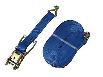 x4 25MM 5 Metre 1.5 Ton Blue Ratchet Lashing Straps with Claw Hook