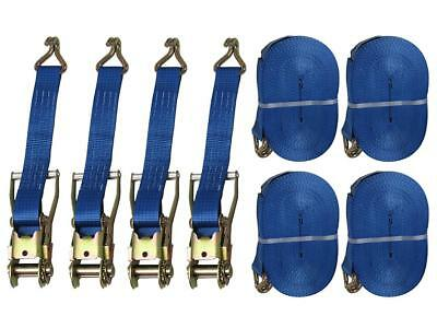 x10 50MM 0.75 Ton 3 Metre Auto Retractable Ratchet Straps with S Hook