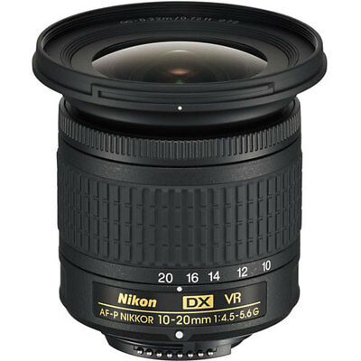 Nikon AF-P DX NIKKOR 10-20mm f/4.5-5.6G VR Lens stock from EU nuovo