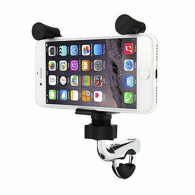 Motorcycle Handlebars Cell Phone Mounts Holders Cradles USB Charger Accessories