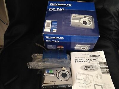 Olympus FE-140 6.0MP Digital Camera, Boxed, Tested, With Disc, Trusted Ebay Shop