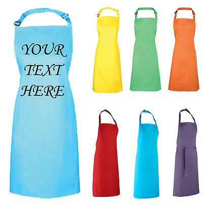 Personalised Apron Kitchen Chefs Custom Printed British Design Funny Bake Off