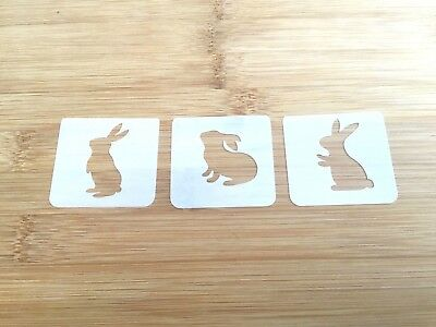 Face paint stencil reusable washable easter bunnies Mylar 190 microns