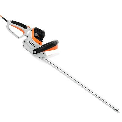 VonHaus 710W Rotating Handle Electric Hedge Trimmer Cutter - 61cm Blade & Cover
