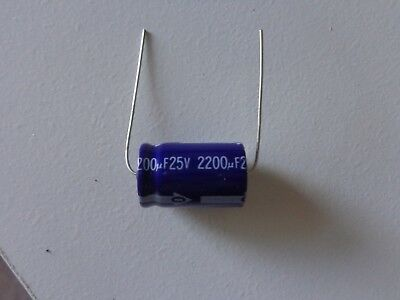 2200uF 25V electrolytic capacitor quality made in Japan