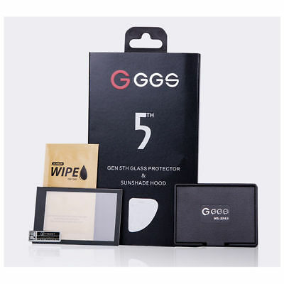 GGS 5th Glass Screen Protector and Sunshade Hood RX100 RX100V RX1 RX1R RX10 RX10