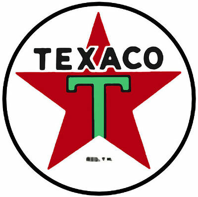 "Texaco Star 12"" Vinyl Decal (DC120)"