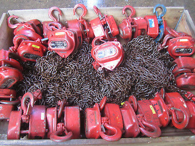 1 Ton Chain Hoist Block & Tackle Lifting 1000kg Hoist 3m & 9m Drop REF 6583
