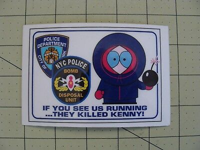 They Killed Kenny Nyc Police Bomb Disposal Unit Card