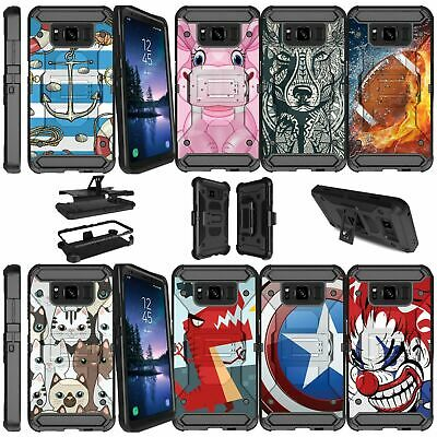 For Samsung Galaxy S8 Active SM-G892A Shockproof Dual Layer Case Animal Designs
