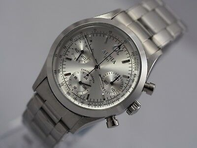 Alpha vintage 1965's mechanical chronograph men's watch