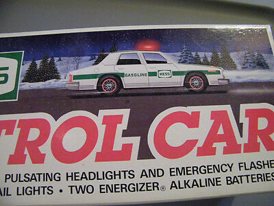 Hess Patrol Car 1993 Mint In Box