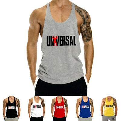 Men's Workout Undershirts Tank Top Bodybuilding Gym Muscle Fitness Stringer Tee
