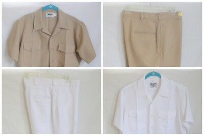 USN US Navy Shirts Pants Hat Khaki White Union Made Vintage Ready to Wear USA