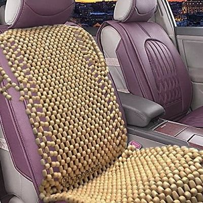 Zone Tech Natural Wooden Beaded Car Seat Chair Cover Massage Cool Cushion Beads
