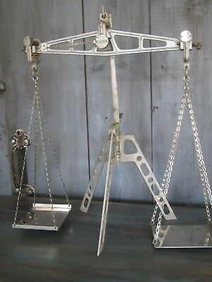 W. & L. E. GURLEY TROY NY USA Traveling Balance Scale & Weights Antique Vintage