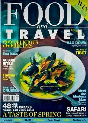 Food And Travel Magazine April 2018 ~ Tibet ~ Tunisia ~ Small Ship Cruises ~ New